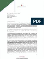 La carta enviada por Ada Colau al presidente del Gobierno, Pedro Sánchez