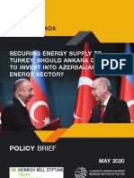 Securing Energy Supply to Turkey
