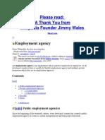 Employment Agency