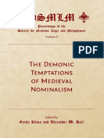Gyula Klima and Alexander W. Hall, Alexander W. Hall - The Demonic Temptations of Medieval Nominalism-Cambridge Scholars Publishing (2011)