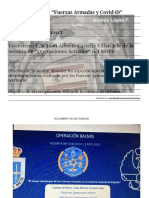 Fuerzas Armadas y COVID19. Un despliegue sin precedentes en España.