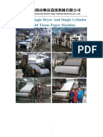1575type toilet paper machine with coal boiler