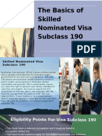 Factors Are Required to Lodge Visa Subclass 190