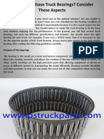 Need to Purchase Truck Bearings Consider These Aspects