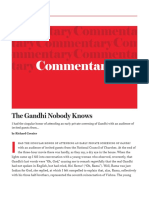 The Gandhi Nobody Knows - Commentary