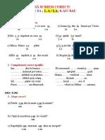 Ortogramele Sa Sau La
