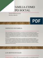 La familia como grupo social