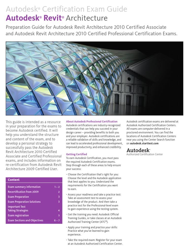 Autodesk Revit 2010 Exam Guide 0709 Env3 Professional