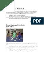 Reglas Básicas del Futsal