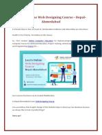 Learn Online Web Design Course -Bopal-Ahmedabad