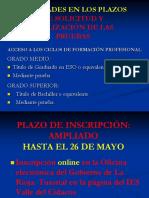 Novedades Acceso a Los Ciclos de Formación Profesional Curso 2019_2020