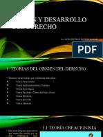 2. ORIGEN Y DESARROLLO DEL DERECHO