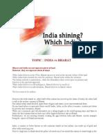 India vs Bharat