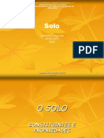 O SOLO_Constituição e Propriedades Físico-Químicas.