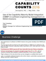 Use of the Capability Maturity Model Integration (CMMI) in software engineering management on NASA Missions
