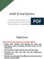 LGT-8; Health  Vital Statistics