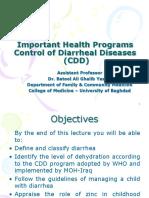 LG-14; Important Health Programs; CDD