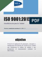 SENSIBILIZACION 9001-2015