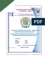 plan de contingencias ante bajas temperaturas distrito de Huata 2020