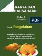 D. Promosi Produk Hasil  Usaha Makanan Internasional