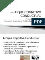 Presentación ENFOQUE COGNITIVO CONDUCTUAL