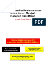 B. Penerapan Sistem Produksi Makanan Khas Daerah  berdasarkan Daya Dukung Daerah