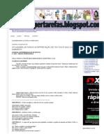 SUPERTAREFAS_ ATIVIDADES LEITURA E INTERPRETAÇÃO DE TEXTOS 6º ANO COM GABARITO