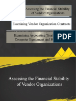 CHAPTER 6 -ASSESSING THE FINANCIAL STABILITY OF VENDOR ORGANIZATIONS, EXAMINING VENDOR ORGANIZATION CONTRACTS, AND EXAMINING ACCOUNTING TREATMENT OF COMPUTER EQUIPMENT AND SOFTWARE.pptx