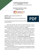 Comunicado 07.20 - Conjunto CGRH e CONVIVA - Projeto Acolhimento CONVIVA + SP
