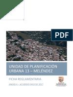Ficha Reglamentaria UPU 13 - Anexo 4 Acuerdo 0433 de 2017