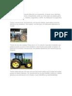 Tipos de tractor mariajose