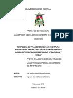 4. PROPUESTA DE FRAMEWORK DE ARQUITECTURA EMPRESARIAL PARA PYMES BASADO EN UN ANALISIS COMPARATIVO DE LOS FRAMEWORKS DE ZACHMAN Y TOGAF