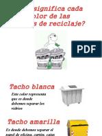 significado de cada color de tacho de residuo