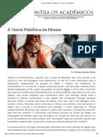 A Teoria Platônica da Eikasia - Contra os Acadêmicos