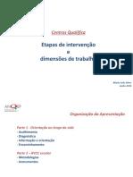 Centros Qualifica - Etapas de intervenção e dimensões de trabalho