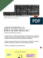 EDUCACION SEXUAL Y PREVENCION DE EMBARAZOS