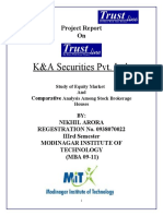 Comparative Analysis Among Stock Brokerage Houses (Trust co litd.