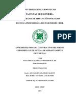 PROCESO CONSTRUCTIVO DEL PUENTE