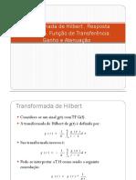 Transformada de Hilbert - Resposta no Tempo- funcao de transferencia- ganho e atenuacao