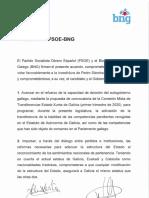 Acuerdo Investidura entre el PSOE y el BNG