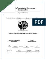 ensayo sobre balanceo de rotores