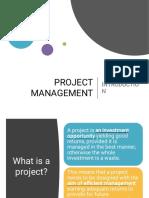 PROJECT MANAGEMENT - Module 1