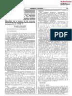 DECRETO SUPREMO No 006-2020-MINEDU