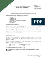 EJERCICIOS ADMINISTRACION DE MEDICAMENTOS