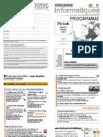 Programme ateliers Janvier Février 2011