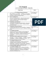 Group a Study Plan - CFA Program