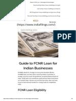 Guide to FCNR Loan - Advantages & Disadvantages