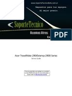 Service Manual -ACER Travel Mate 290 - Extensa 2900 Series