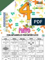 calendario matematico mayo