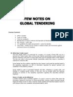 Global Tendering